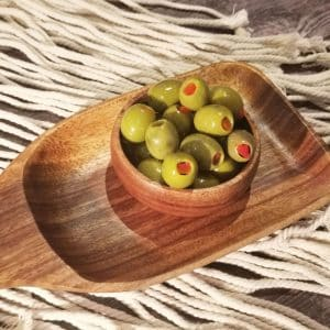 Green Olives Stuffed With Red Pepper